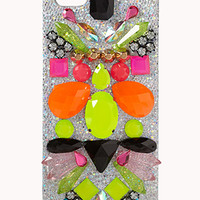 FOREVER 21 Dazzle 'Em Phone Case Silver/Multi One