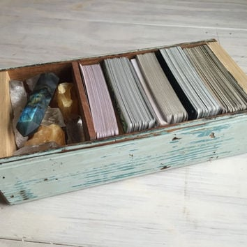 Tarot Crystal Storage Box from Upcycled Reclaimed Wood