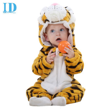 IDGIRL Autumn Winter Baby Clothes Baby Rompers Polar Fleece Newborn Clothing Infant Clothes One Piece Romper JY0192