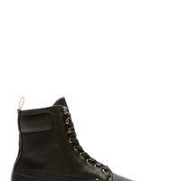 Rag And Bone Black Pebbled Leather Officer Boots