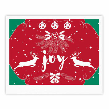 "Famenxt ""Christmas Joy"" Red Green Digital Fine Art Gallery Print"
