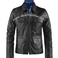 Ian Somerhalder The Vampire Diaries Damon Salvatore Leather Jacket