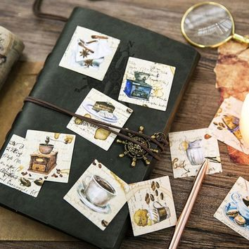 45 pcs/box Vintage Coffee shop paper sticker decoration DIY diary scrapbooking sealing sticker kawaii stationery kids gift