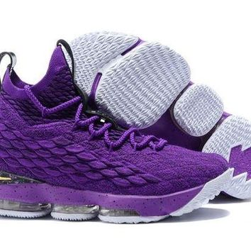 DCCKL8A Jacklish Nike Lebron 15 Purple Venom-metallic Gold For Sale