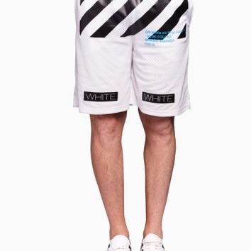 Mesh short from the S/S2016 Off-White c/o Virgil Abloh collection in white