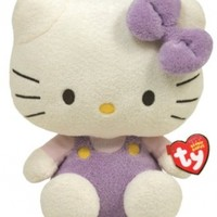 Ty Beanie Baby Hello Kitty - Lavendar Overalls