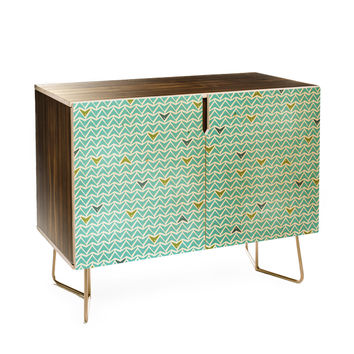 Heather Dutton Take Flight Aqua Credenza