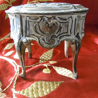 French Vintage Gilt Reliquary Spelter Box
