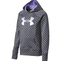 Under Armour Girls' Armour Fleece Storm Printed Big Logo Hoodie | DICK'S Sporting Goods