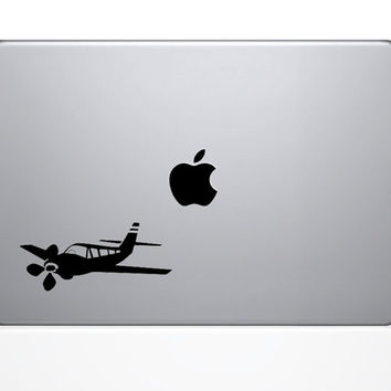 Small Propeller Airplane - Computer Decal