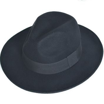 Men Wool Fedora Trilby Bucket Hat Women Wedding Hat Fedora Panama