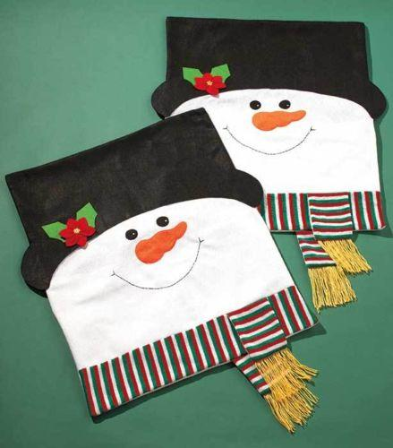 Sets Of 2 Holiday Snowman Chair Covers From Cornerstone