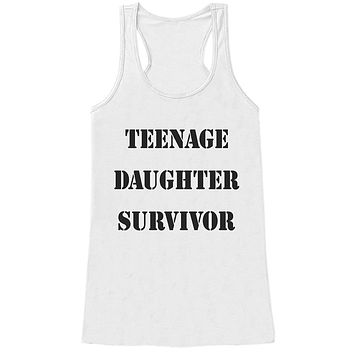 Custom Party Shop Womens Teenage Daughter Survivor Funny Tank Top