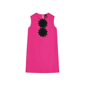 Pink Fuchsia Coral Cute A-line Shift Party Dress - Girls