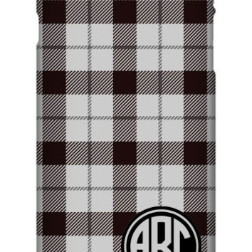 Plaid Monogram iPhone 6S Plus Slim Case