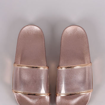 Lucite Band Open Toe Slide Sandal | UrbanOG