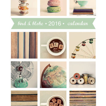 2016 Calendar, Photography Calendar, Desk Calendar, Photo Calendar, 5x7, Retro, Loose Pages, Fine Art Prints, Modern, Minimal, Frameable