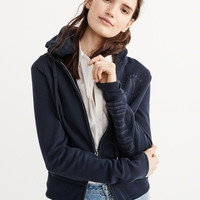 Womens Full-Zip Fleece Hoodie | Womens New Arrivals | Abercrombie.com