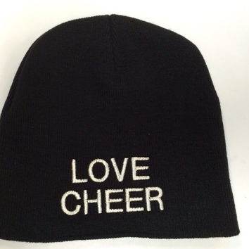 Love Cheer Embroidered Beanie