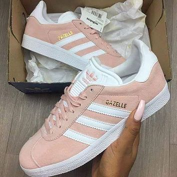 Best Online Adidas Originals Wmns Gazelle Vapour Pink / Gold Metallic Women's BA9600 Sneakers Classic Casual Shoes