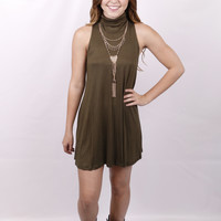 High Profile Top: Olive