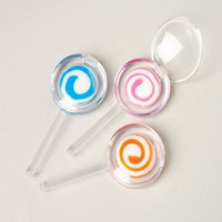 Dozen Assorted Color Swirl Lollipop Design Lip Gloss
