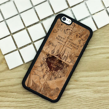soft TPU Phone Cases For iPhone 6 6S 7 Plus 5 5S 5C SE 4 4S ipod touch 4 5 6 Cover Shell Harry Potter Doodle Marauders Map