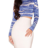 Long Sleeve Graphic Print Top Two Piece Dress