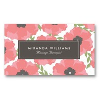 Elegant Pink Floral Business Cards from Zazzle.com
