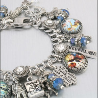 Peter Pan Charm Bracelet Silver Charm by BlackberryDesigns on Etsy