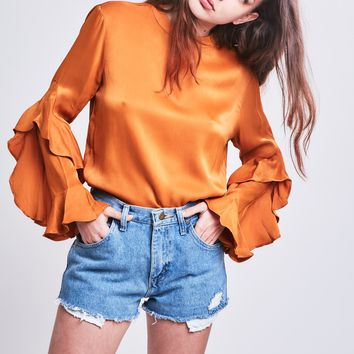 Clovelly Blouse in Mustard **Pre-Order, Ships 6/1**