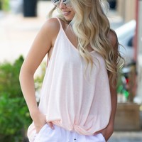 Peachy Sheer Knot Top