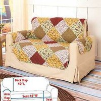 Quilted Loveseat Furniture Cover Protector Protect From Kid's Pets Spills Home