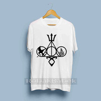 symbol harry potter and Catching fire - High Quality Tshirt men,women,unisex adult