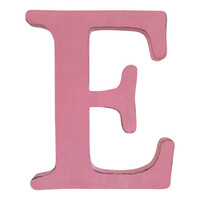 Letter E in Blush Pine Wood Sign Wall Decor Rustic Americana Country Chic Wedding Photo Prop Nursery Kids Decor