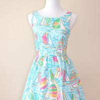 Lilly Pulitzer You Gotta Regatta Fit & Flare Dress
