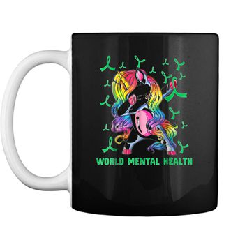 unicorn mental health awareness Mug