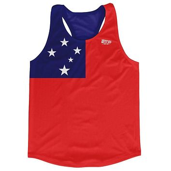 Samoa Country Flag Running Tank Top Racerback Track and Cross Country Singlet Jersey