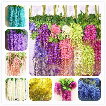 Wisteria Flower Seeds Bonsai Wisteria Purple Yellow White Pink Wisteria Seeds Indoor Ornamental Plants Flower 10 Pcs / Bag