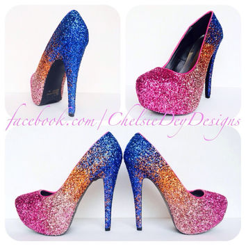 The Sunset Glitter High Heels