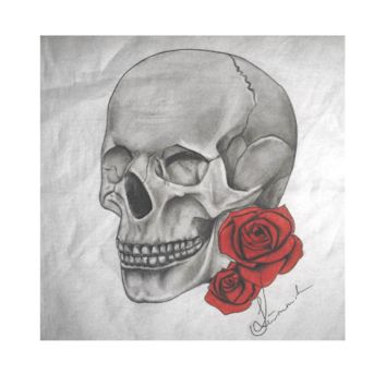 Skull and Roses Scarf