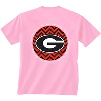 Georgia Bulldogs Chevron T-Shirt | UGA Girls Chevron T-Shirt | Georgia Chevron T-Shirt