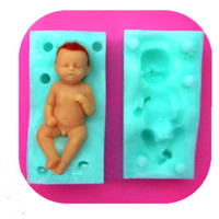 3d baby silicone mold fondant silicon mold free shipping
