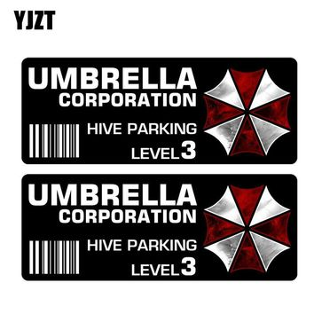 YJZT 12.7CM*4.5CM 2X RESIDENT EVIL UMBRELLA Car Sticker Reflective Motorcycle Parts C1-7521
