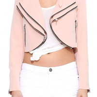 Laurie Good To Be Bad Zipper Blazer