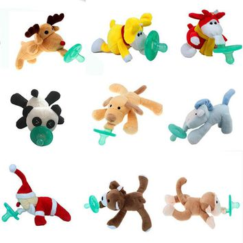 Mini Stuffed Animal Silicone Pacifier