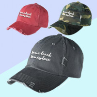 """Some Beach, Somewhere"" Distressed Hat"