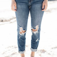 Log House Boyfriend Jeans, Light
