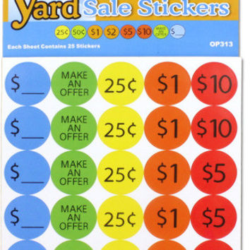 yard sale pricing stickers Case of 24