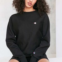 Champion Black Reverse Weave Pullover Sweatshirt | Urban Outfitters